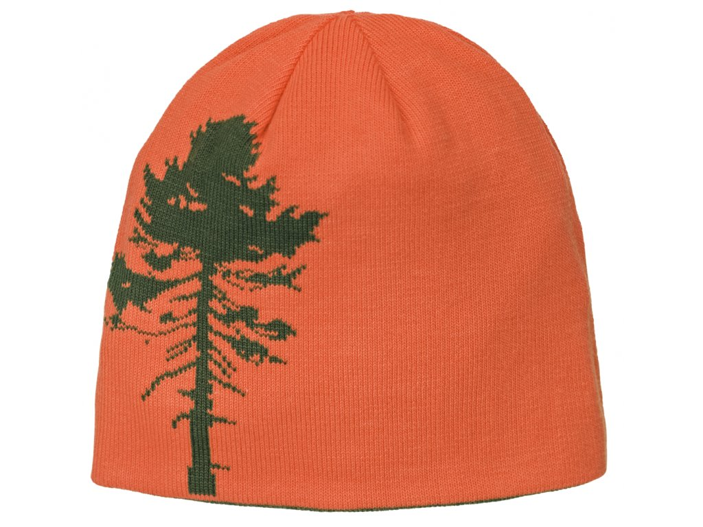 9124 knitted hat tree orange green