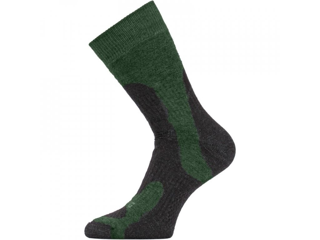 lasting merino ponozky trp zelene