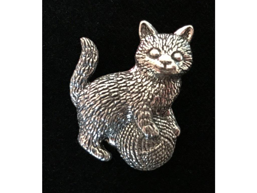 Cínový odznak Kotě