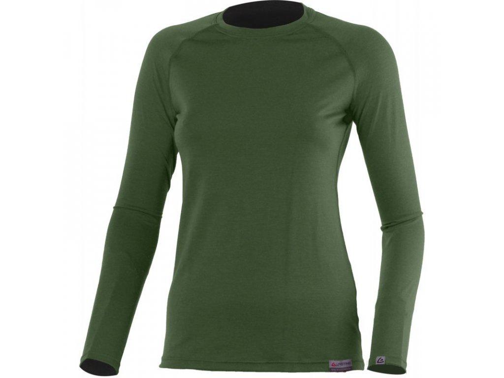 lasting damske merino triko atila zelene