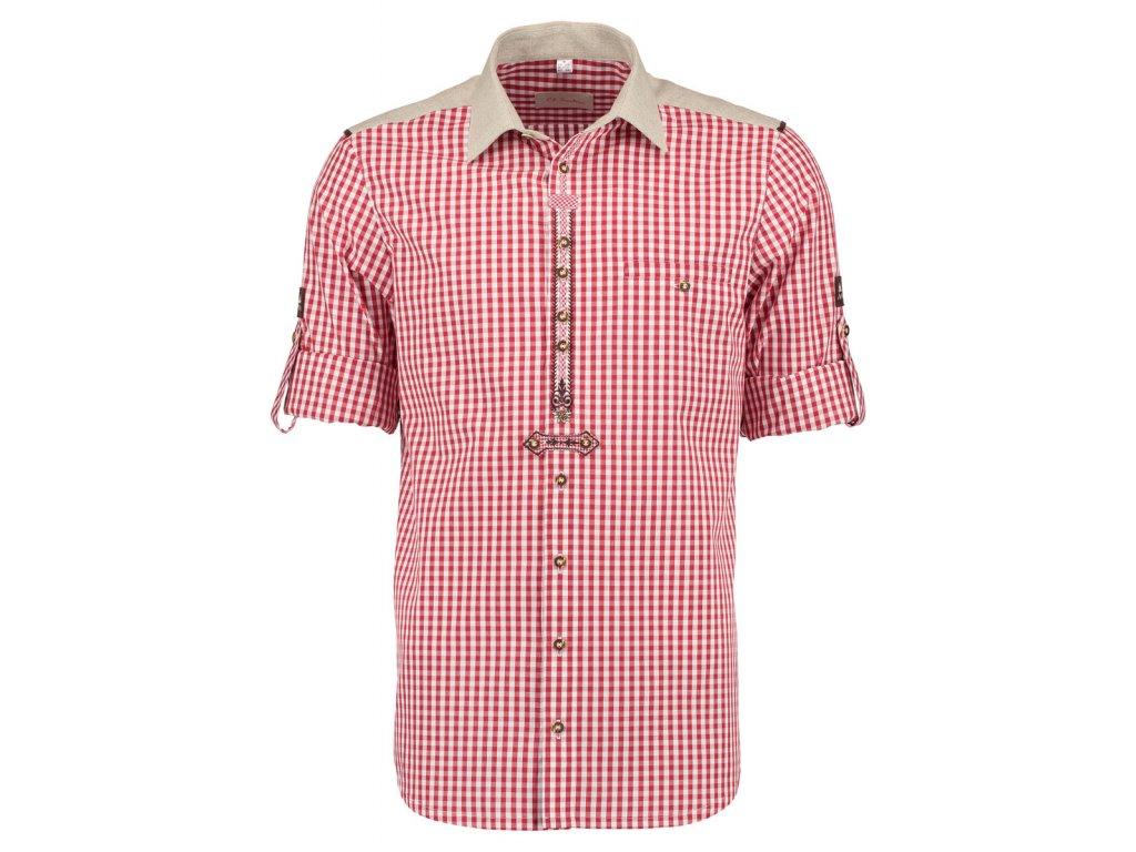 Horalská košile červená zdobená