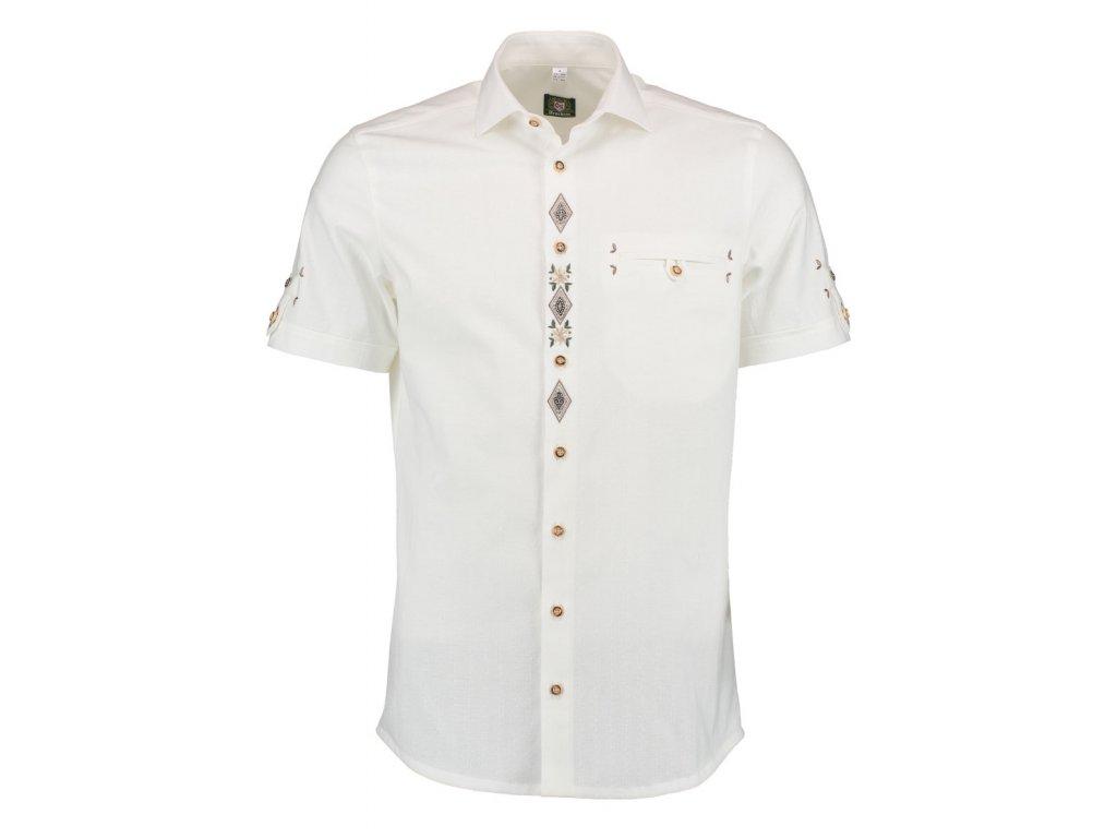 Košile společenská bílá krátký rukáv