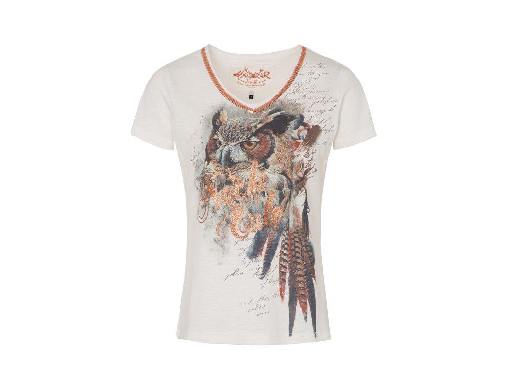 Tričko se sovou dámské