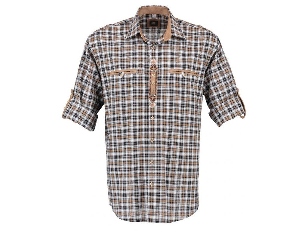 Horalská košile hnědá