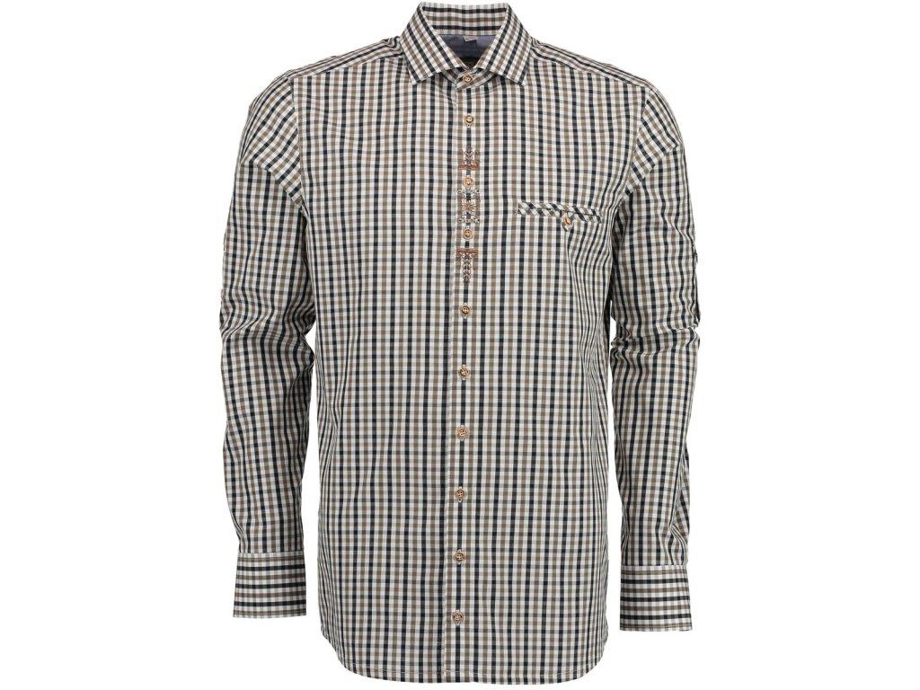 Košile vyšívaná hnědá