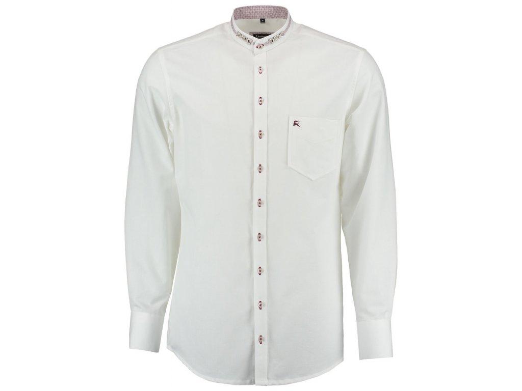 Košile společenská se stojáčkem SLIM