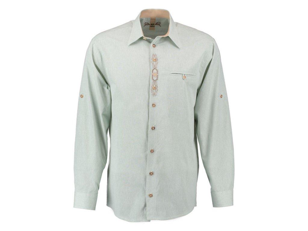 Košile společenská zelená