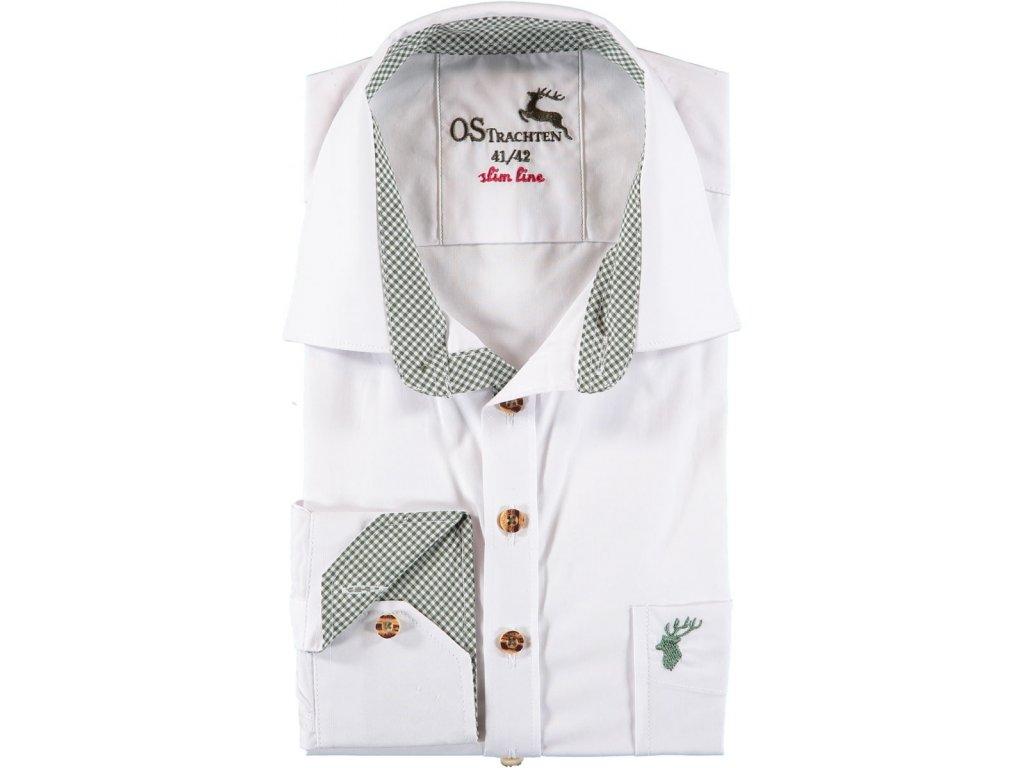 Košile bílá společenská SLIM