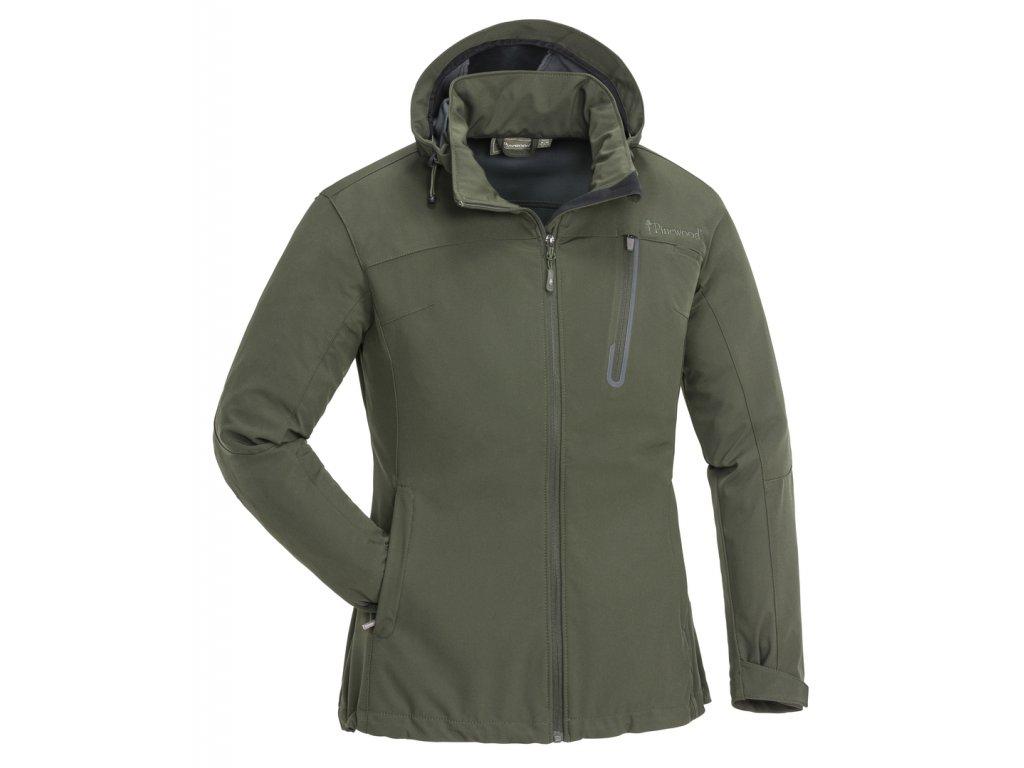 3141 135 01 pinewood womens jacket wilda stretch shell mossgreen