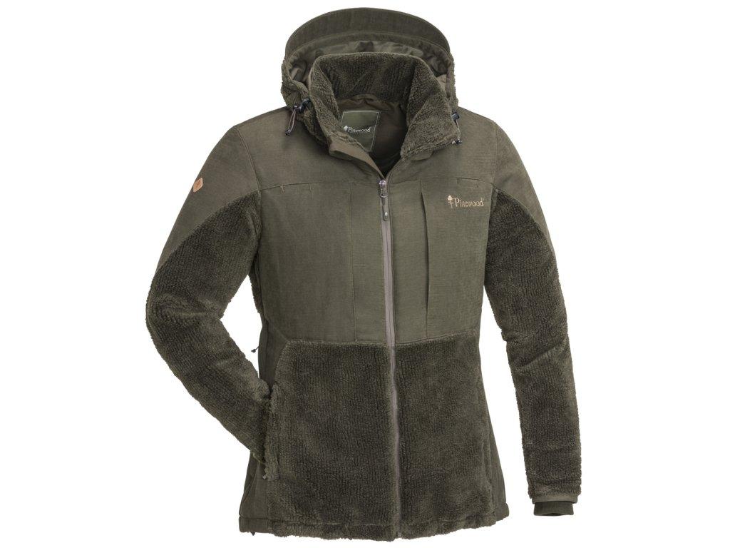 3903 241 01 pinewood womens jacket esbo pile suede brown (1)