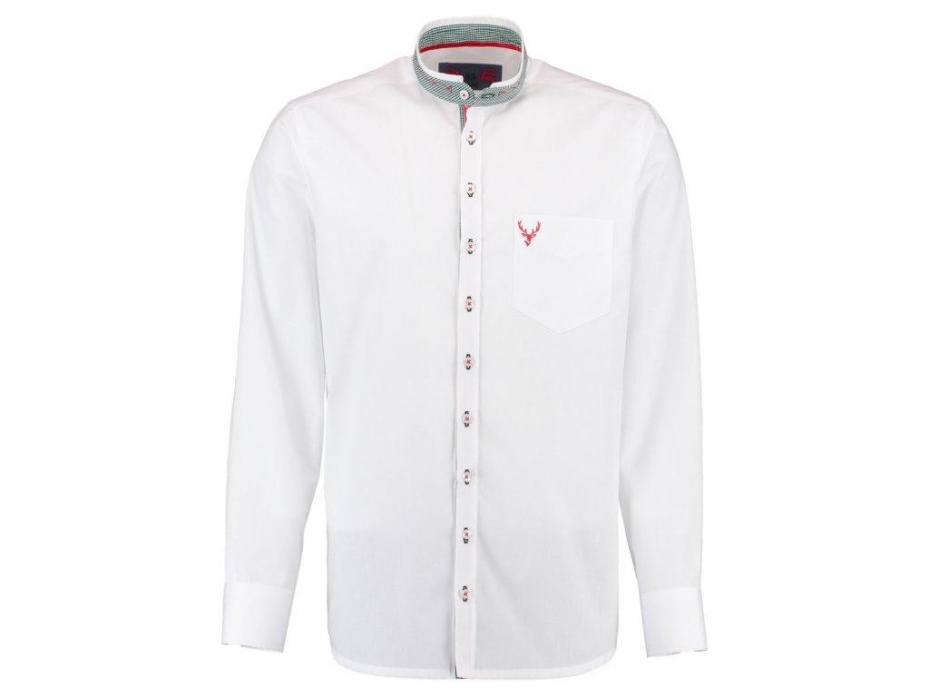 Košile bílá se stojáčkem