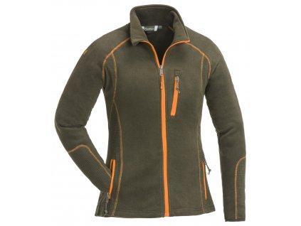 3170 128 1 pinewood womens fleece jacket micco dark olive (1)