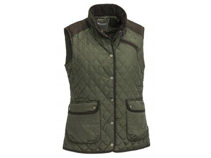 3125 182 1 pinewood womens vest diana mossgreen suede brown (1)