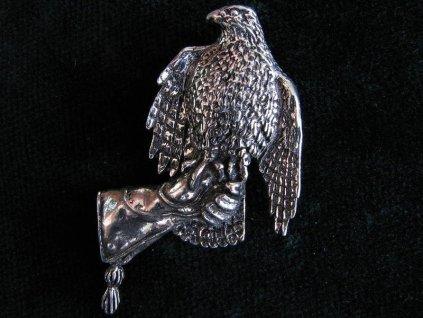 Orel skalní na rukavici