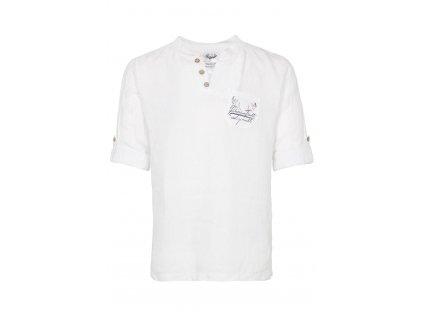 Lněná bílá košile Protěž