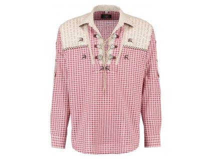 Horalská šněrovací košile červená