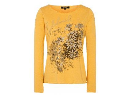 Tričko s protěžemi žluté