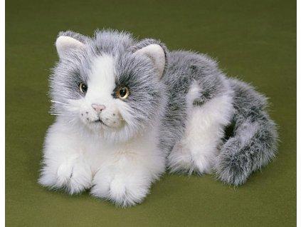 Plyšová kočička šedá