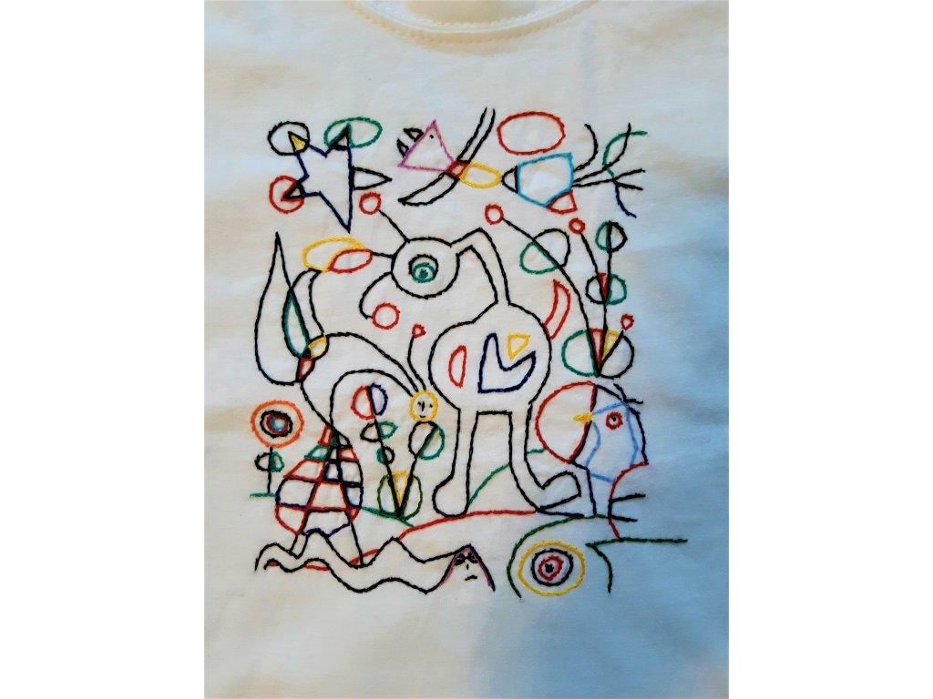 Tričko Miró detail