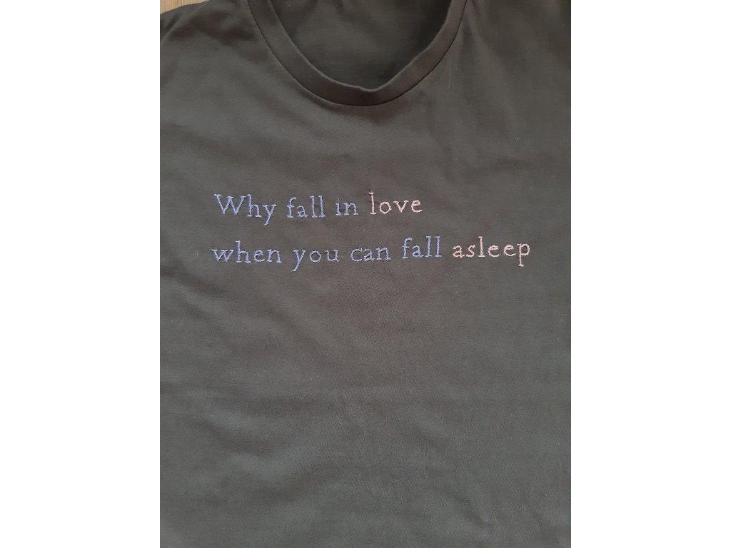 Tričko fall in love detail
