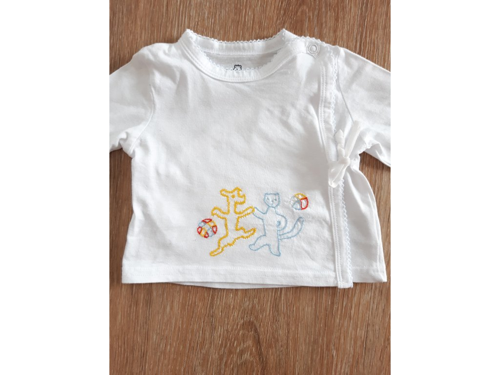 Tričko pro kojence Pejsek a kočička polodetail
