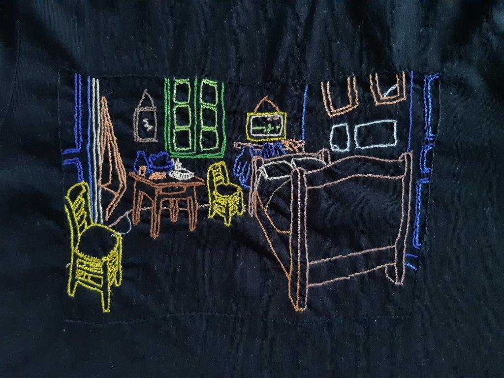 Tričko Van Gogh Kavárna detail