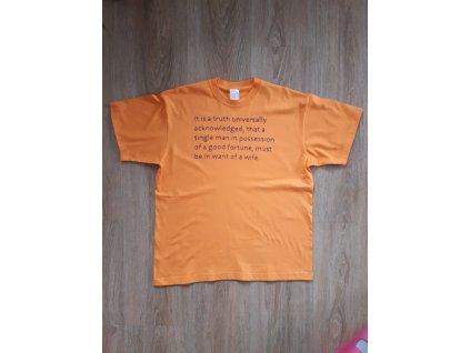 Ručně vyšívané pánské tričko vel. XL - Austen
