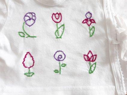 Tričko pro kojence Kytky polodetail