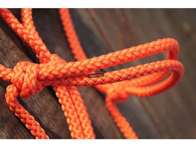 Provazová ohlávka oranžová
