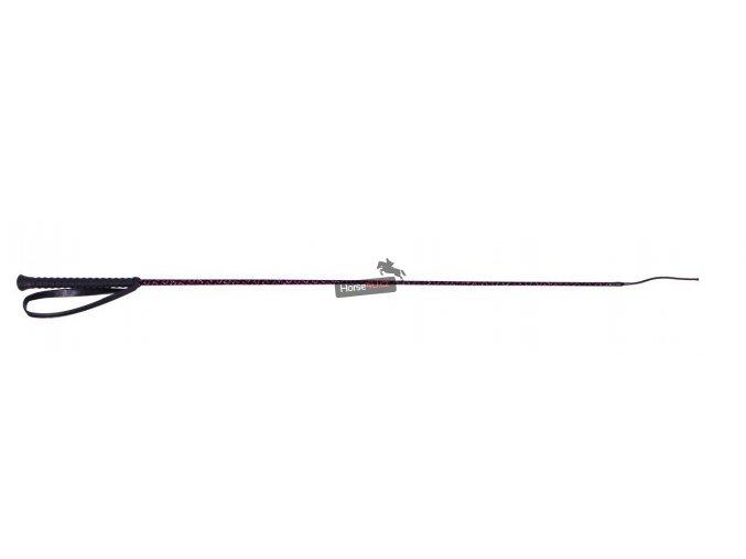 Drezurní bič QHP Rhombic Fuchsia