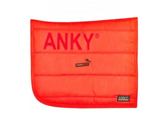 Podsedlová dečka ANKY Fire red