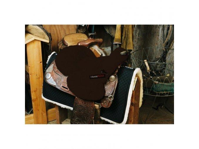 engel reitsport lammfell sattelsitzbezug western mit horn sabez3 mocca