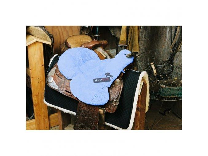engel reitsport lammfell sattelsitzbezug western mit horn sabez3 babyblau