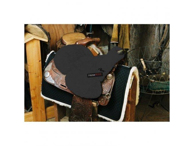 engel reitsport lammfell sattelsitzbezug western mit horn sabez3 anthrazit