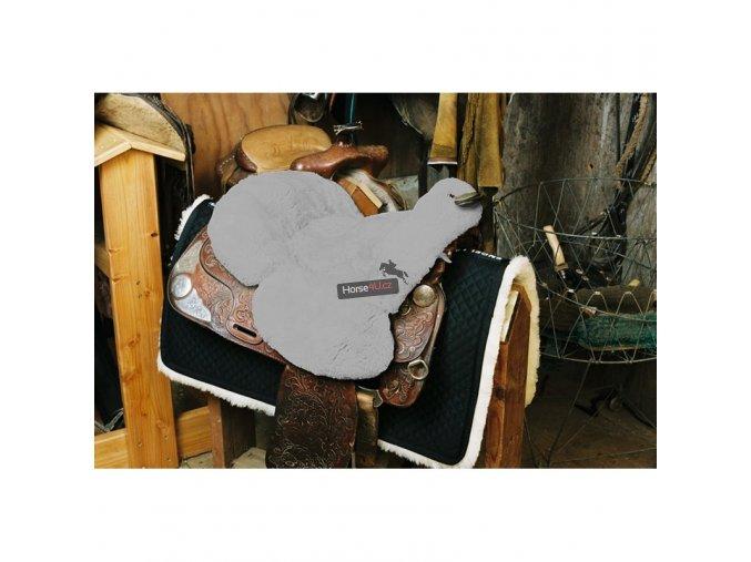 engel reitsport lammfell sattelsitzbezug western mit horn sabez3 silber