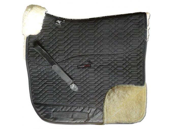 engel reitsport lammfell schabracke schabra2 schwarz pink d dressur