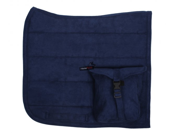 Podsedlová dečka PUFF PAD s kapsou Evening blue