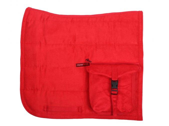 Podsedlová dečka PUFF PAD s kapsou Bright Red