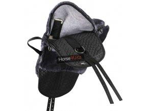 fellsattel lammfell inkl distanzgewebe r1 pony schwarz