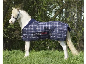 Stájová deka Falabella 200 gr Blue Check