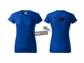 Dámské tričko BASIC Královsky modré