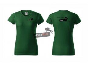 Dámské tričko BASIC Lahvově zelené