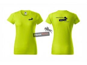 Dámské tričko BASIC Limetkové
