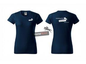 Dámské tričko BASIC Navy