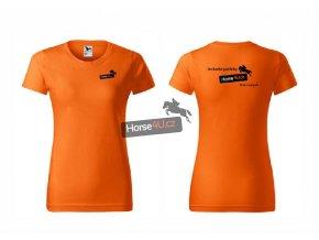 Dámské tričko BASIC Oranžové