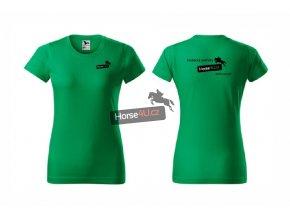Dámské tričko BASIC Středně zelené