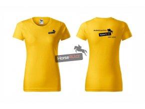 Dámské tričko BASIC Žluté