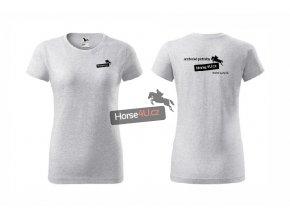 Dámské tričko BASIC Světle šedé