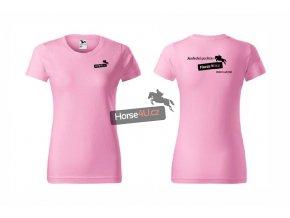 Dámské tričko BASIC Světle růžové