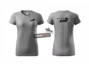 Dámské tričko BASIC Tmavě šedé